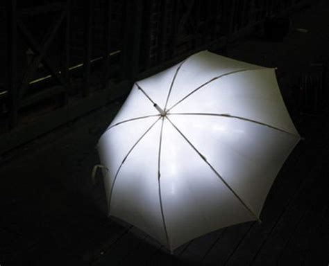 An Umbrella That Lights Up by Light Drops For The Rainy Days Stylefrizz