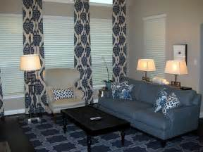 Grey Wingback Chair Slipcover Blue Curtains Transitional Bedroom At Home In Arkansas