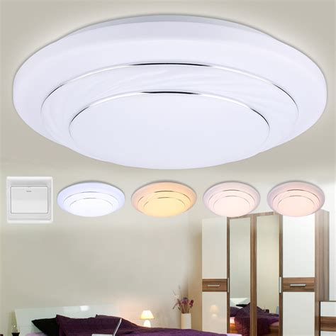 kitchen overhead lighting fixtures 4 modes dimmable 24w led round ceiling down light flush