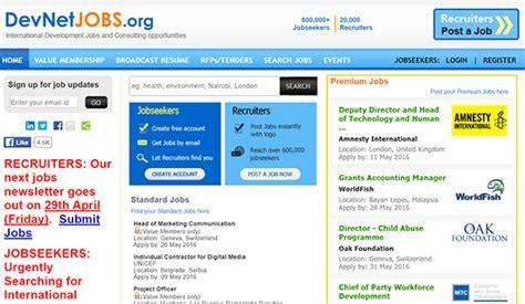 Devnetjobs Org Vacancies 2016 | 10 online job boards for nonprofit professionals
