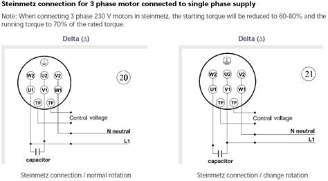 3 phase capacitor connection choosing capacitor when translate 3 phase ac motor into single phase plcs net interactive q a