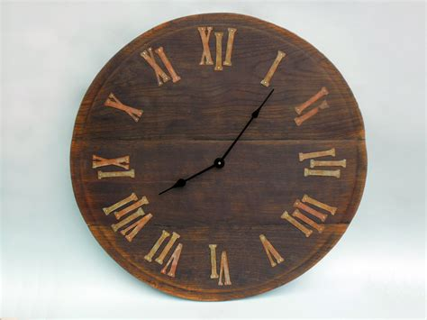 rustic clock 23 large rustic wall clock unique big wall clock