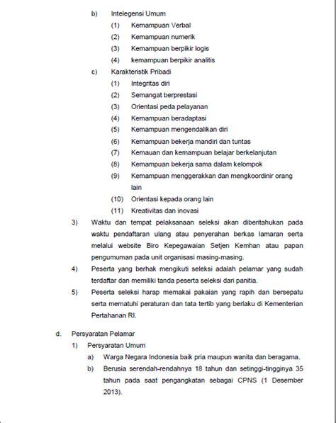 kumpulan contoh surat penerimaan cpns 2013 kemenhan