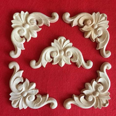 fashion corners wood carved motif wood shavings smd