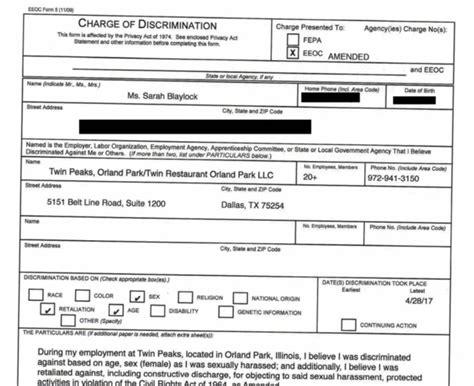 Modern Eeoc Complaint Form Component Resume Ideas | 178.128.108.15