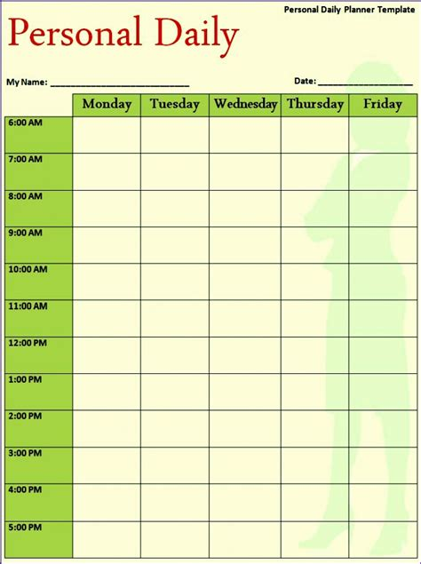 hourly schedule excel template excel templates excel templates