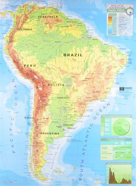 south america physical features map