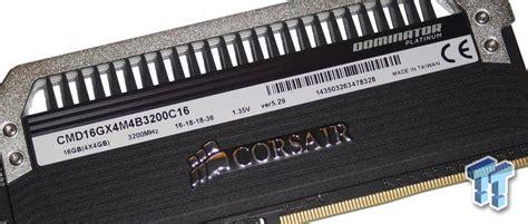 Memory Ram Ddr4 Corsair Dominator Platinum Rog Cmd16gx4m4b3200c16 4x 1 corsair dominator platinum ddr4 3200 16gb channel memory review