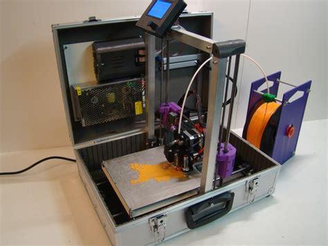 Mobile Printer 3d the teebot portable 3d printer