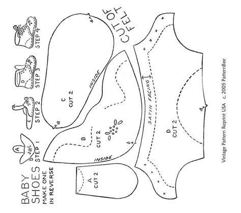baby shower booties template baby shoe pattern with tongue diy footwear