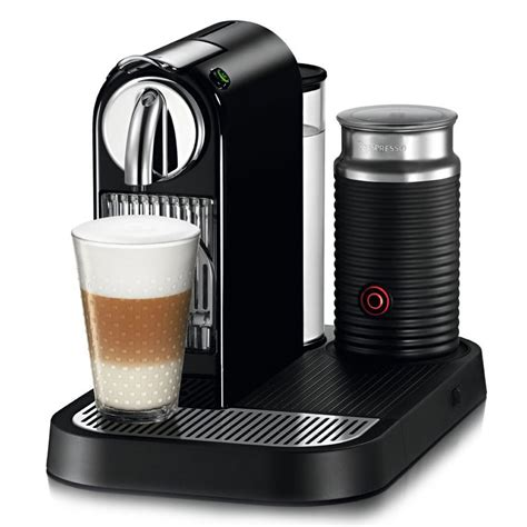 Nespresso Coffee Machine nespresso citiz coffee espresso maker with milk frother black cutleryandmore