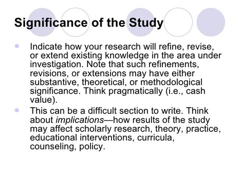 How To Make Significance Of The Study In Research Paper - a sle thesis significance of the study award winning