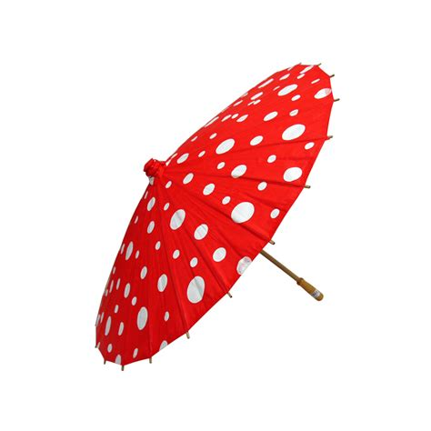 "32"" Red Polka Dot Paper Parasol Umbrellas on Sale Now!   Chinese Japanese Umbrella   Cheap"