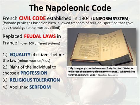 the code napoleon or the civil code literally translated from the original and official edition published at in 1804 classic reprint books napoleon bonaparte domestic policies ppt