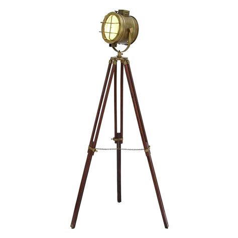 shop woodland imports 70 in royal brown tripod floor l