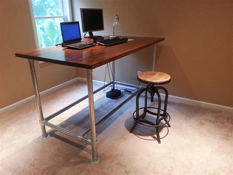 Pipe Desk Frames The Awesomer Diy Desk Pipe