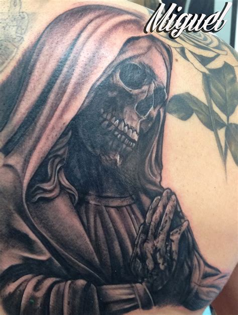 tattooed santa santa muerte oklahoma city ink