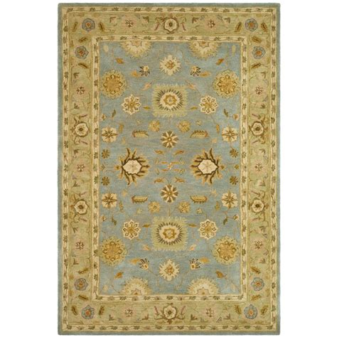 8 X 10 Ft Area Rugs Safavieh Anatolia Light Blue 8 Ft X 10 Ft Area Rug An556b 8 The Home Depot