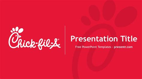 Fil A Powerpoint Template Free Chick Fil A Powerpoint Template Prezentr Ppt Templates