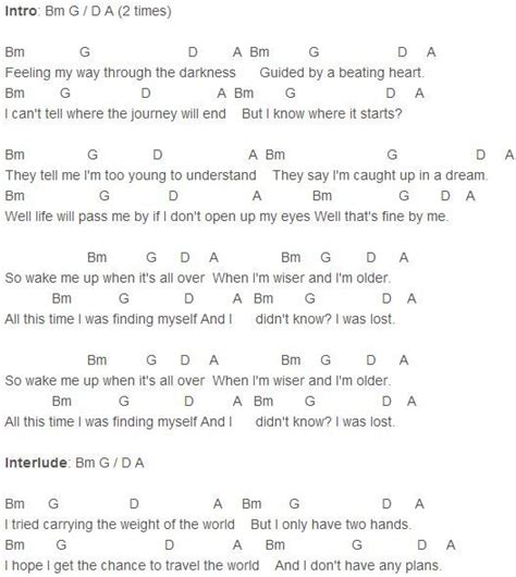 strumming pattern how you get the girl avicii wake me up chords avicii pinterest http