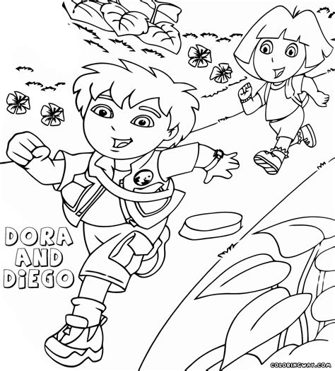 dora and diego coloring page dora and diego coloring pages coloring pages to download