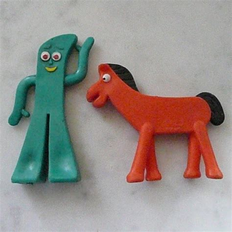 cartoon gumby tattoo beloved gumby and his horse pokey 1950s vintage