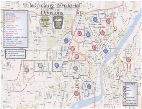 City Of Toledo Arrest Records The Blade Obtains Toledo Department S Territorial Divisions Map