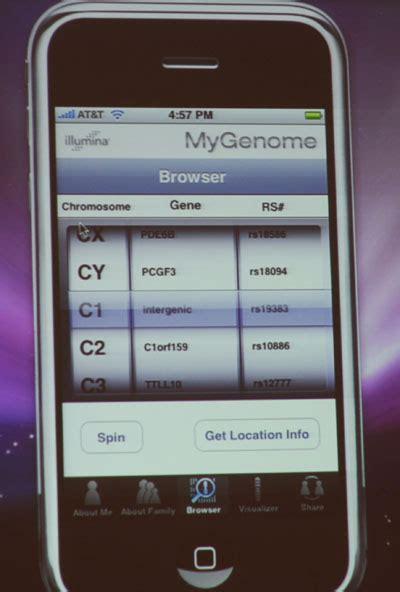 illumina phone slideshow illumina s concept mygenome iphone app