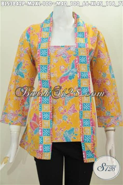 Batik Pria Motif Leaf Kuning blus batik kuning motif bunga model kutubaru pakaian