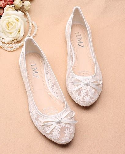 Bridal Flats by Ivory See Through Lace Flats Shoes Lace Bridal Flats