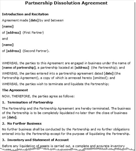 Letter Of Intent To Dissolve Business Partnership Joint Tenancy Grand Deed Doc Images Frompo