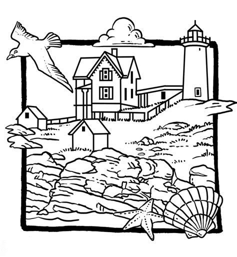 coloring pages lighthouse free printable lighthouse coloring pages free coloring home