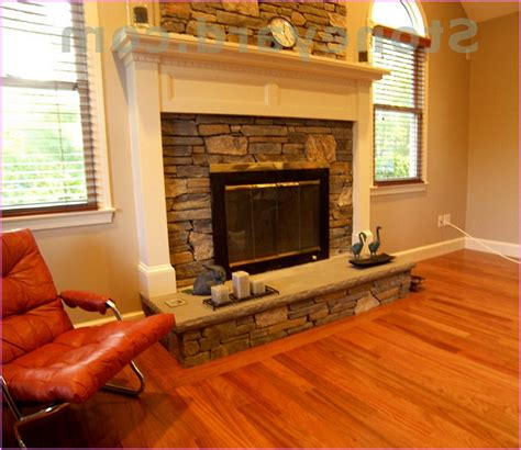 Cheap Livingroom Sets by Stacked Stone Fireplace Home Design Ideas