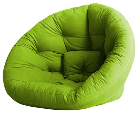 Futon Nest Chair nest convertible futon chair bed lime mattress