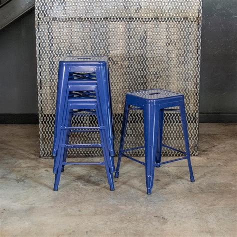 24 Bar Stools Set Of 4 by Amerihome Loft Style 24 In Stackable Metal Bar Stool In