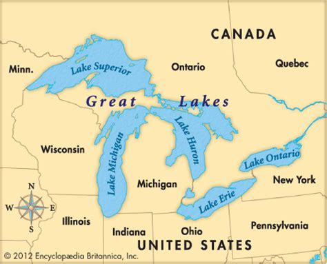 the great lakes map united states map 5 great lakes