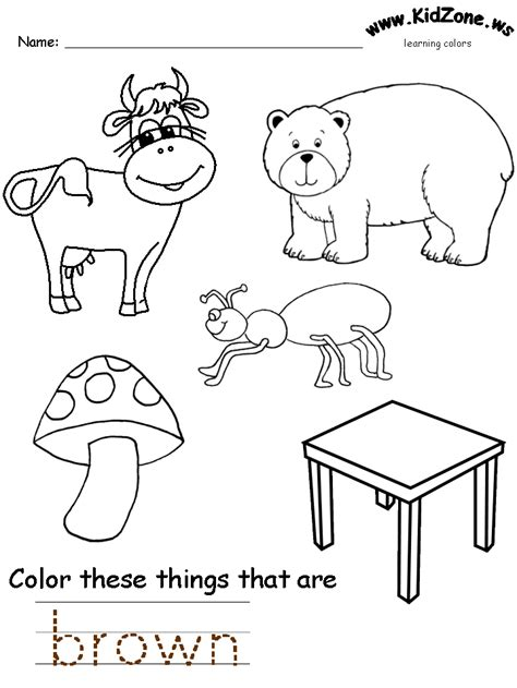 free coloring pages of brown worksheets