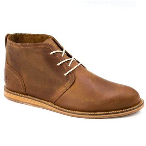 j shoes realm mens mid brown leather chukka boots wear