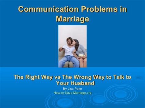 Problems with marriage