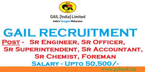 Gail Mba Recruitment 2017 by Gail Recruitment 2017 Foreman Officer Accountant