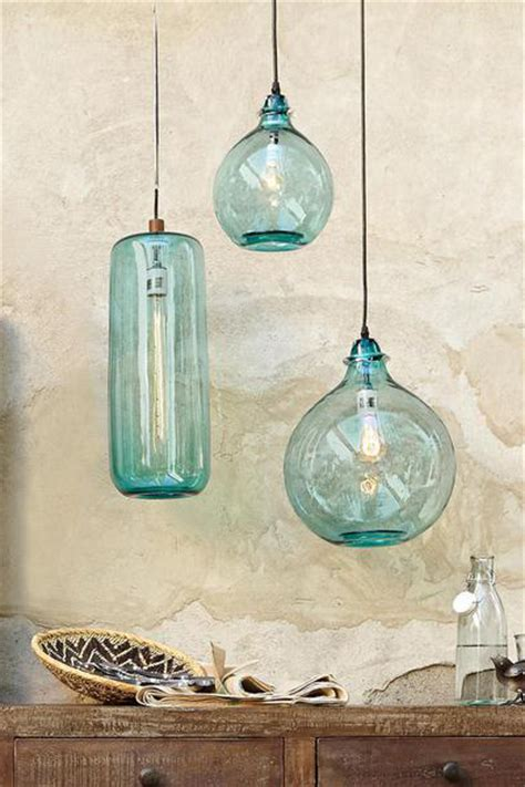 Beachy Chandeliers Salon Bleu Glass Demijohn Pendant Everything Turquoise