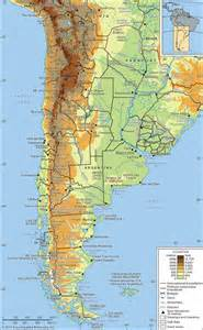 south america map with mountains andes mountains mountain system south america