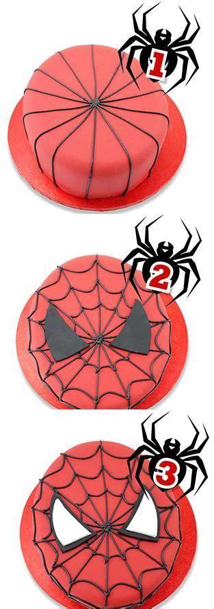 tutorial gambar spiderman inspirasi bake design 8 idea cupcake kek dan cookies