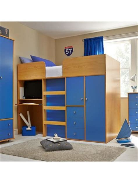 High Sleeper Bed With Desk And Wardrobe by High Sleeper Bunk Beds With Desk And Wardrobe For Sale In