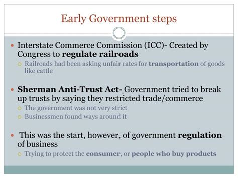 Early Commerce ppt big business rises in the us powerpoint presentation id 1694874
