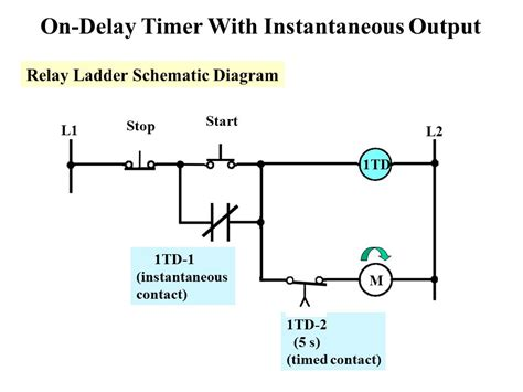 delay timer wiring diagram circuit diagram maker