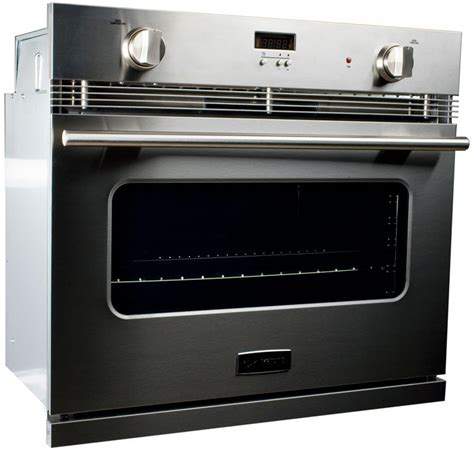 undercounter gas oven verona vebig30ss 30 inch single gas wall oven with 3 0 cu