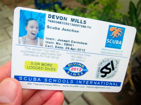dive card get my scuba certification learn how to get your scuba