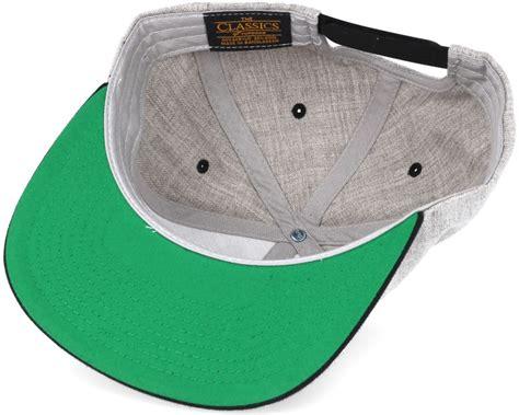 Black Grey Snapback By Snaplus bmlogo grey black snapback bearded caps hatstore no