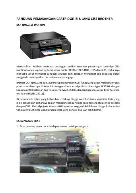 Toner Isi Ulang panduan pemasangan cartridge isi ulang ciss